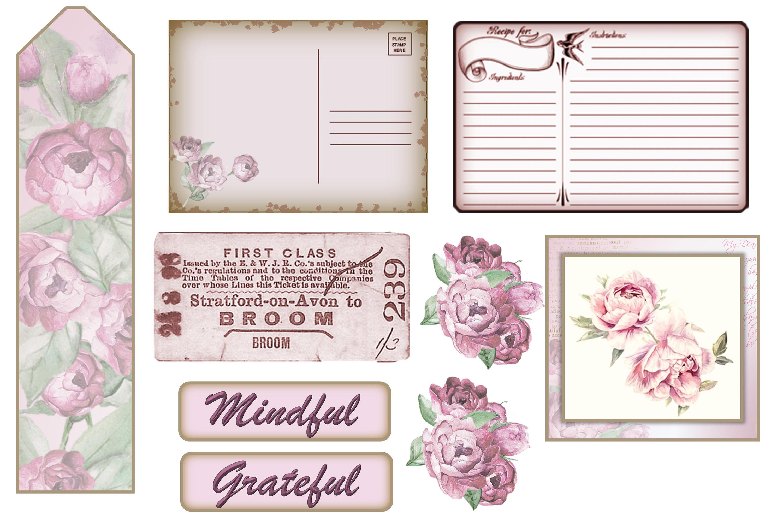 Stuffed Pockets Ephemera Kit for Journaling or Card making example image 5