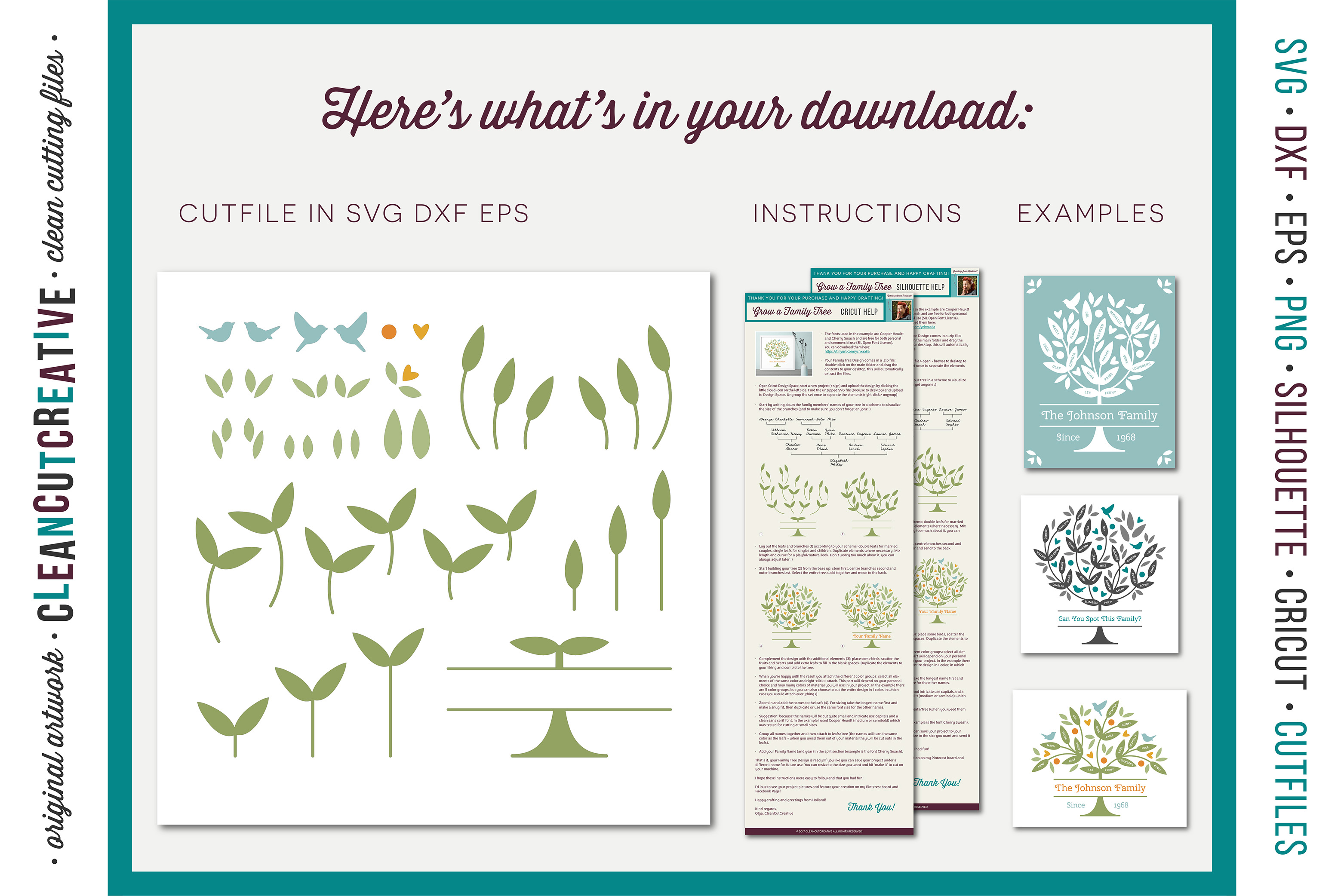 Grow a FAMILY TREE! - crafter design toolkit - SVG cutfiles example image 4