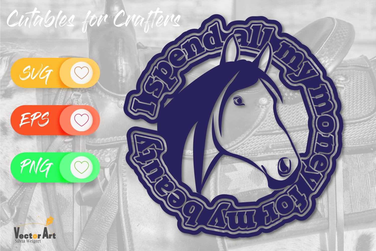 Horsehead with Saying - Cut File for Crafters example image 2