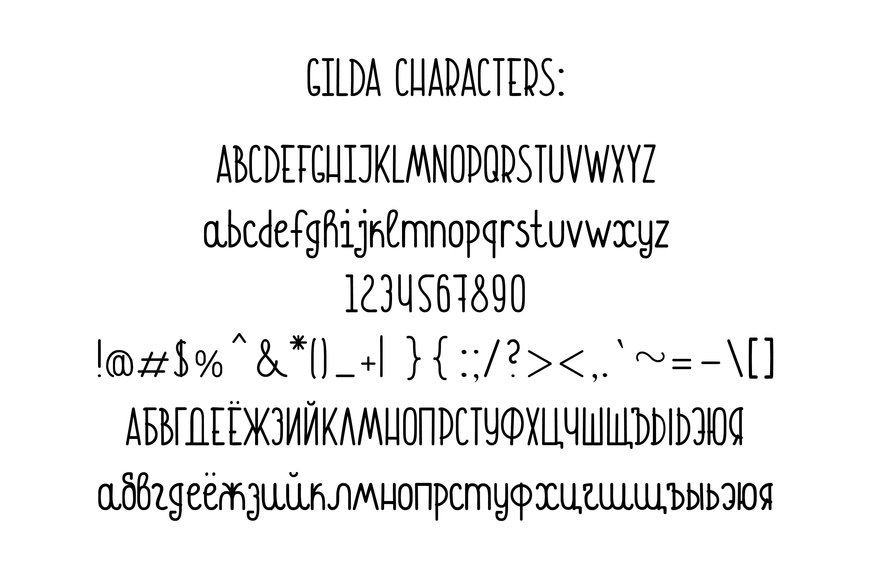 Gilda Font example image 5