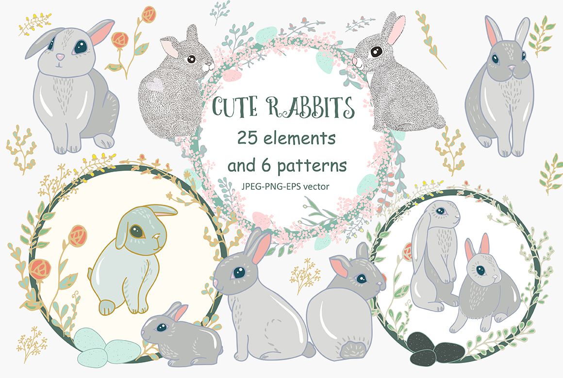 Cute Rabbits example image 1