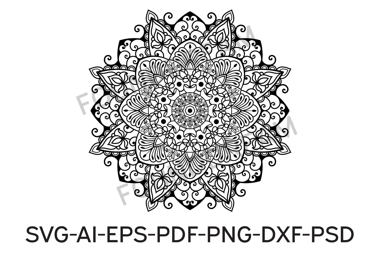 Mandala svg files | Mandala art example image 2