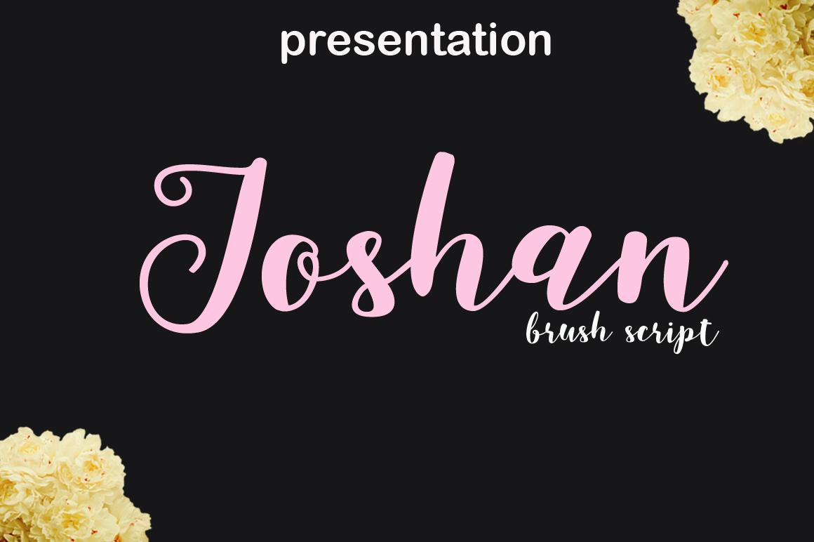 joshan brush script example image 1
