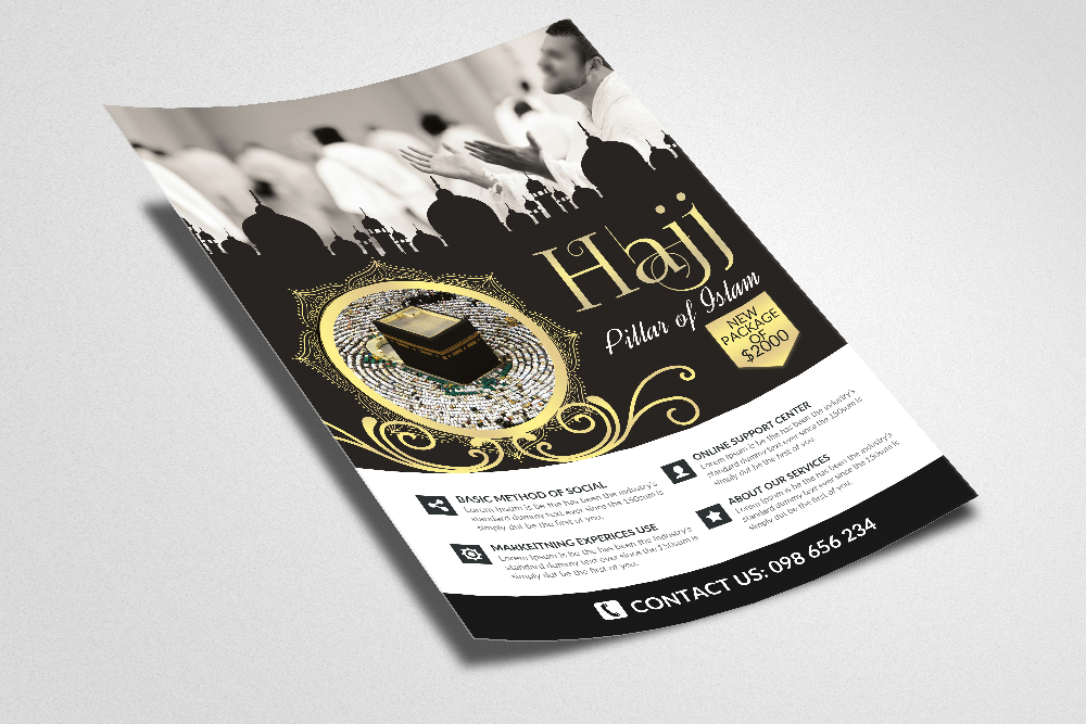 Hajj and Umrah Flyer Template example image 2