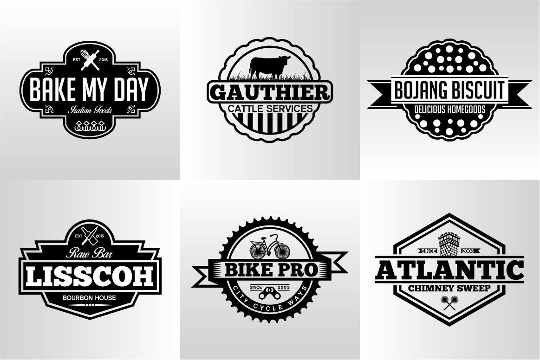 60 Vintage Bundle Logos Labels & Badges example image 18