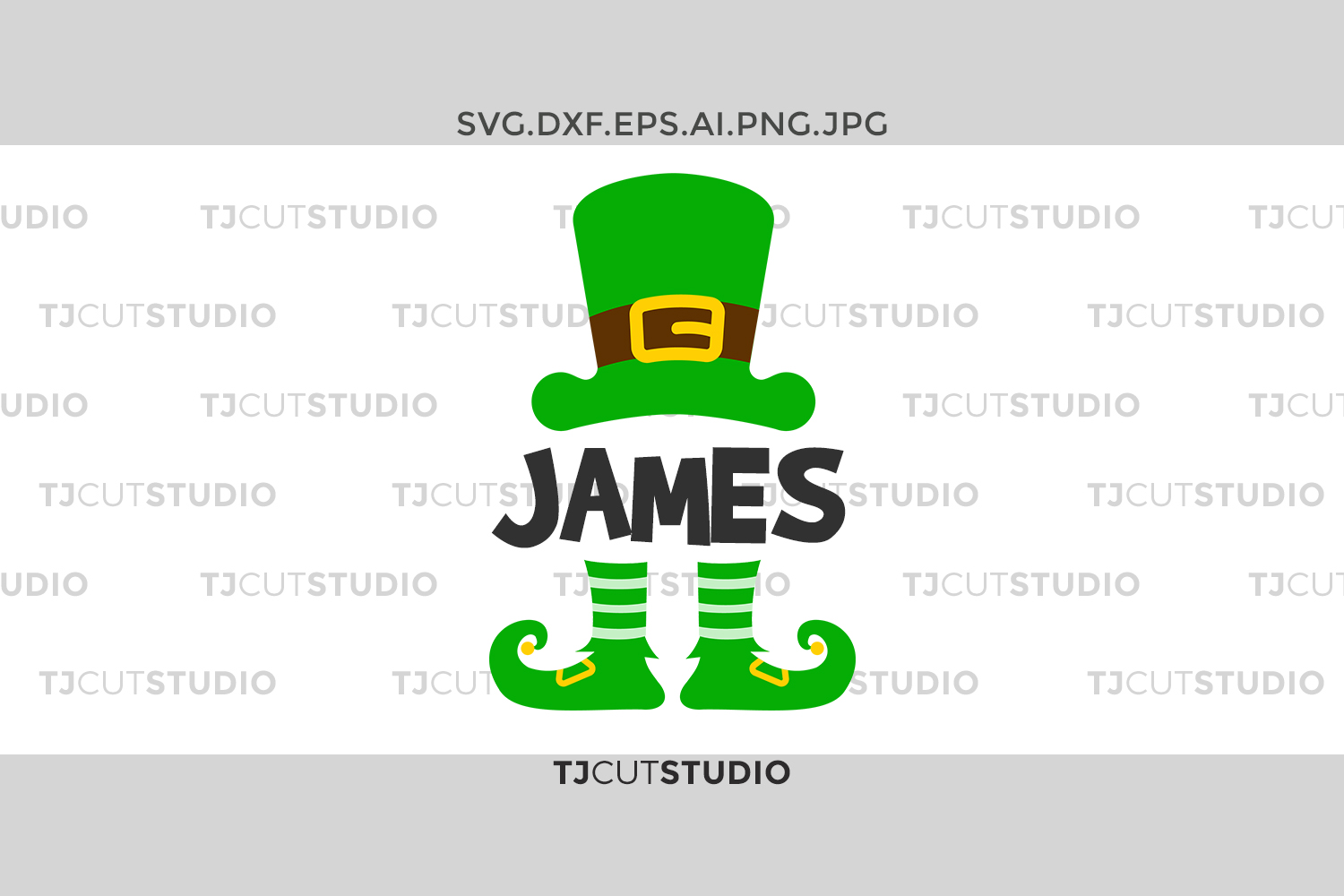 Leprechaun svg, St Patrick Monogram svg, Leprechaun Hat svg, kids svg, Svg Files for Silhouette Cameo or Cricut, Commercial & Personal Use. example image 1