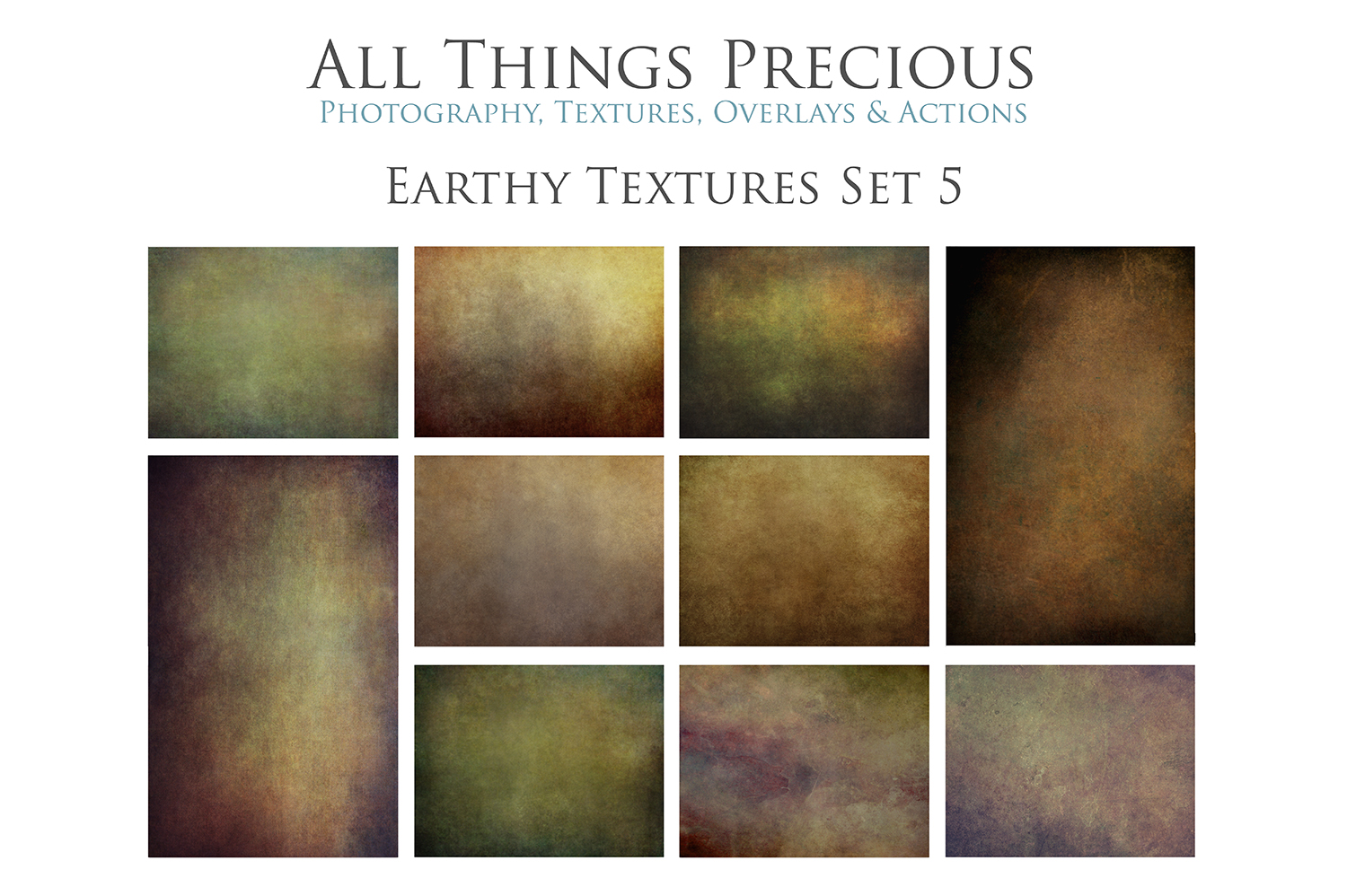 10 Fine Art Earthy Textures SET 5 example image 1