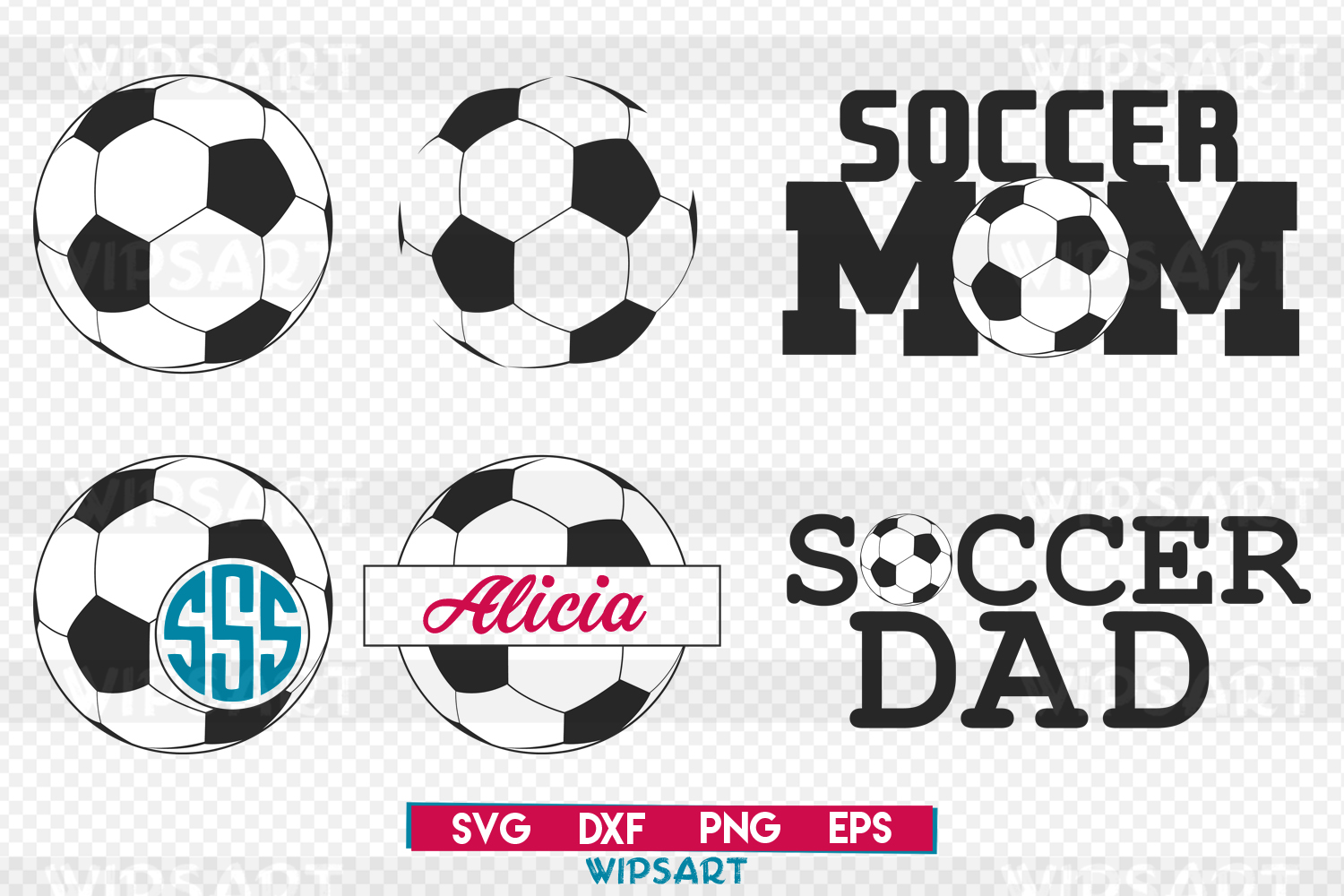 SALE! Soccer svg file, soccer clipart svg, soccer cut files example image 1