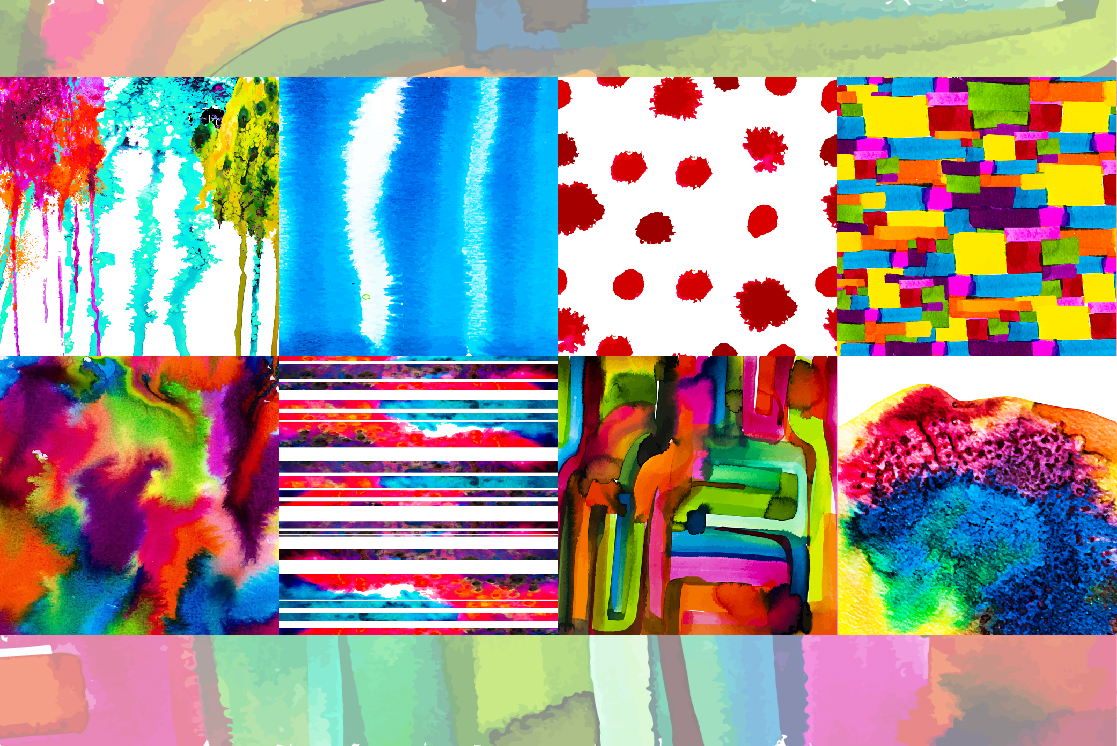 34 Watercolor vector set background. example image 4