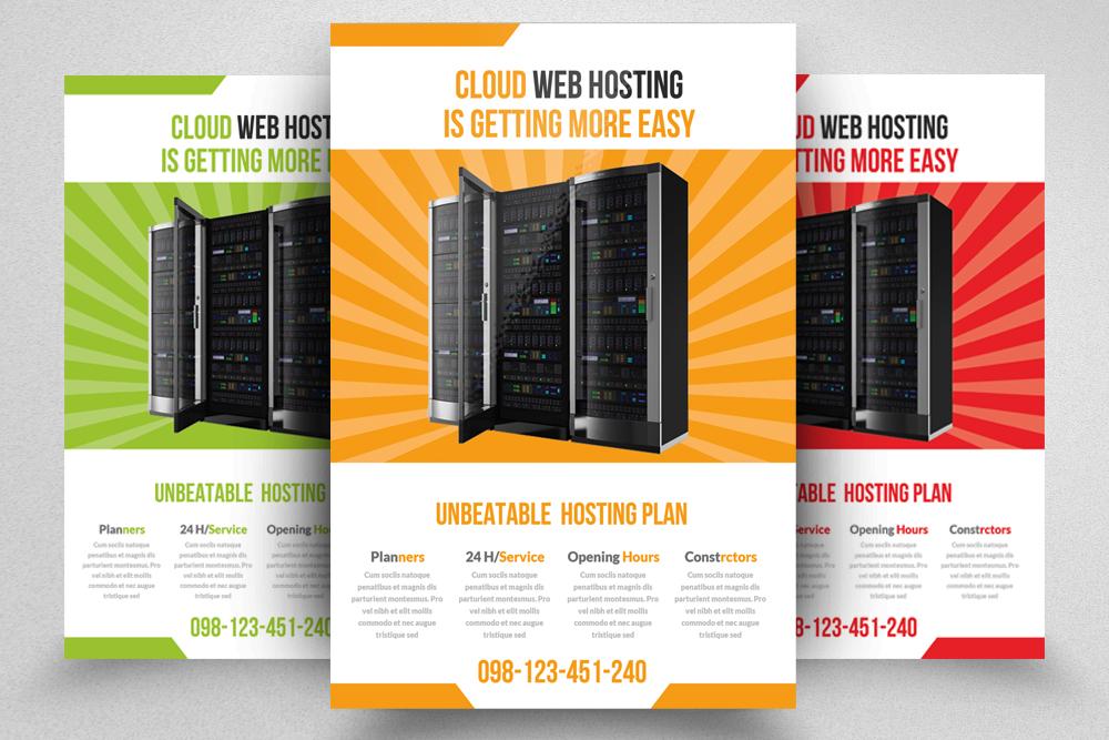 6 Web Hosting Business Flyers Bundle example image 5