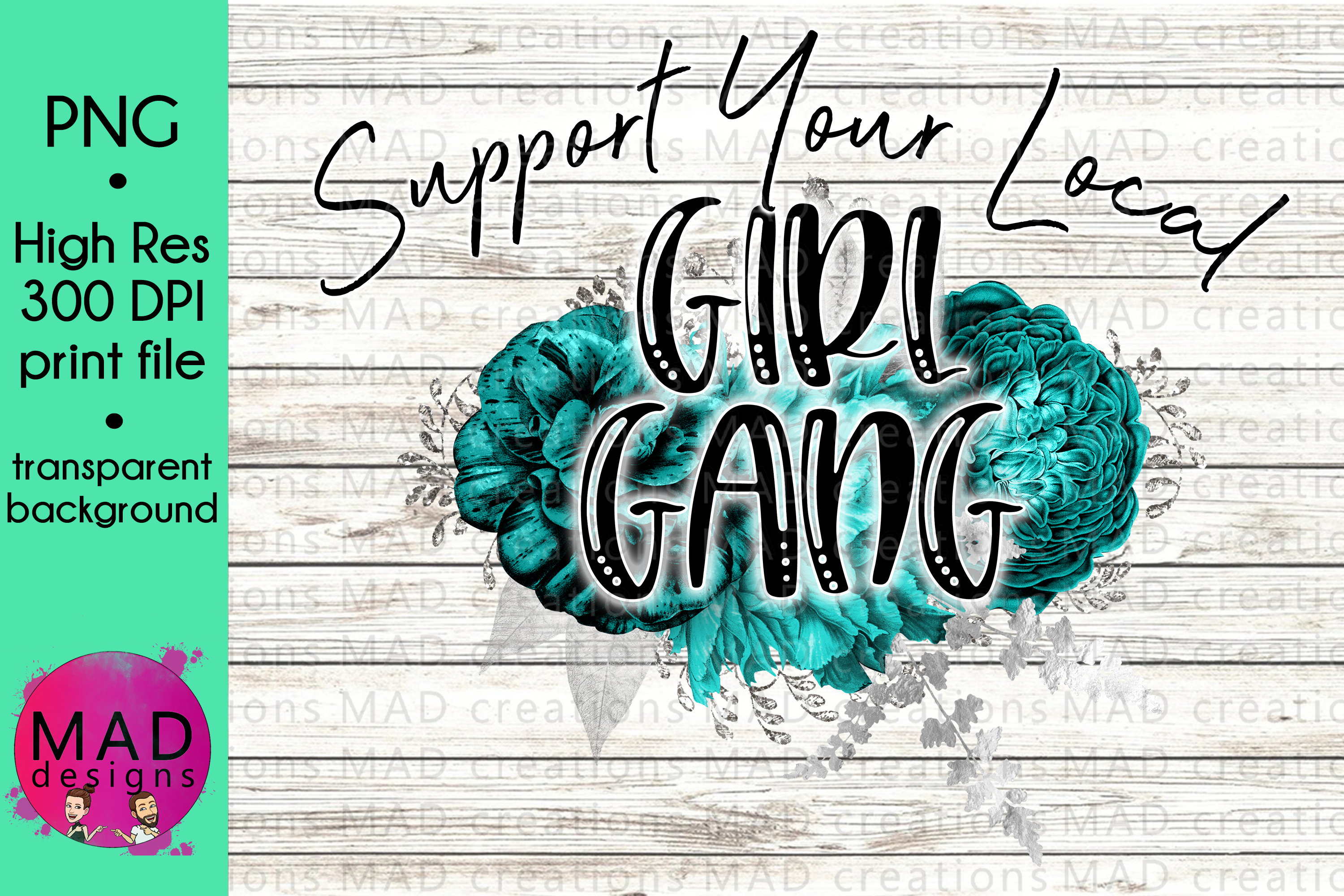 Support Your Local Girl Gang - Print File example image 1
