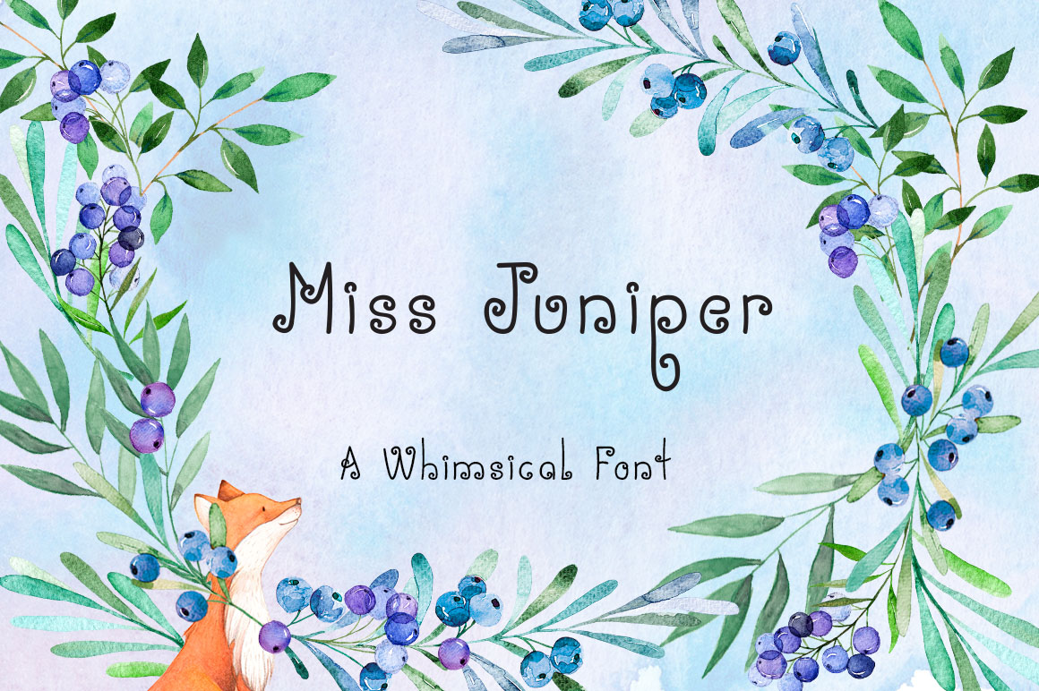 Miss Juniper - A Whimsical Font example image 1