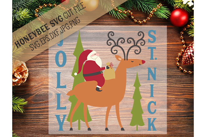 Jolly St Nick svg example image 1