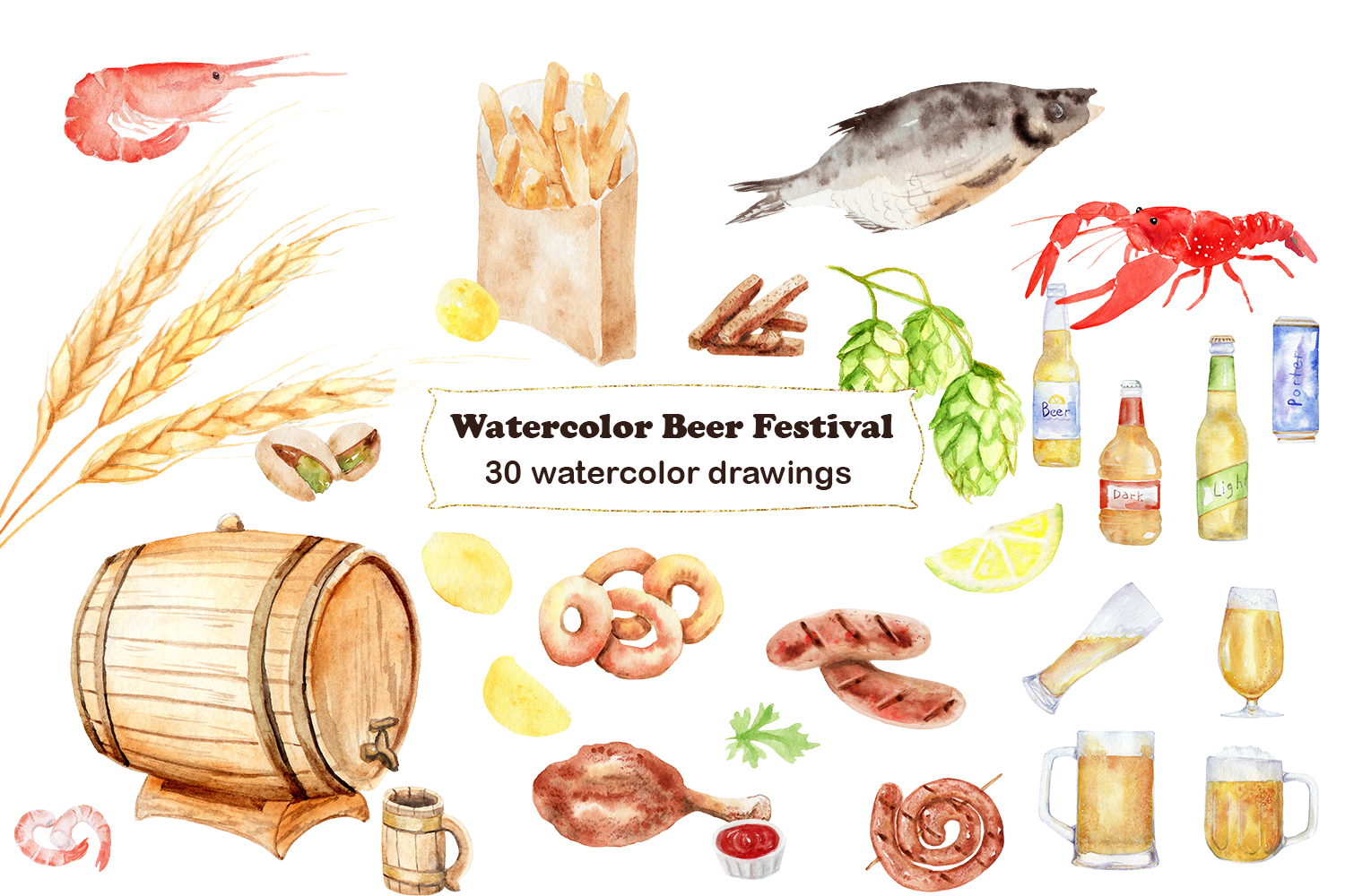 Watercolor Beer Festival example image 4