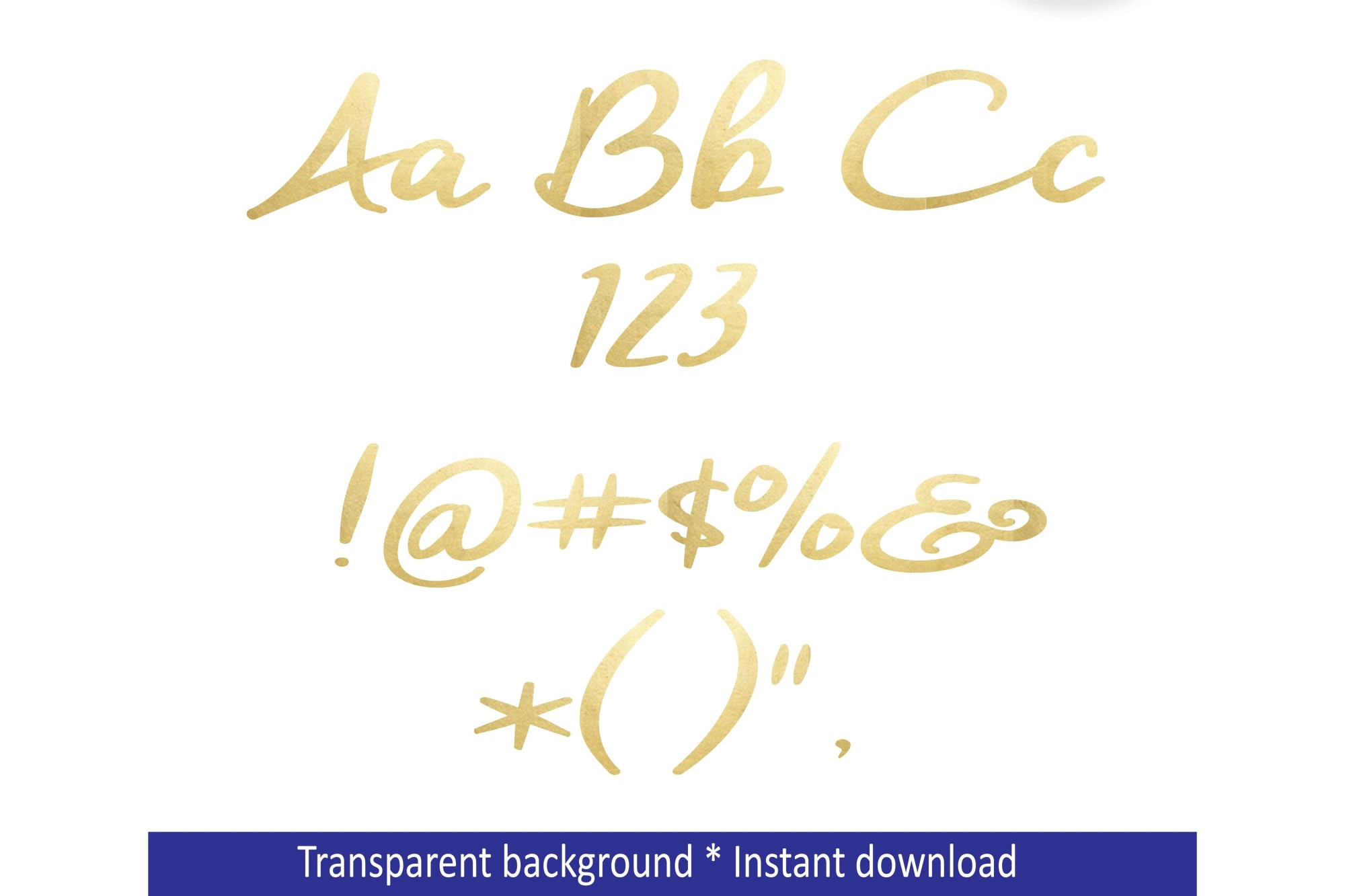 Gold Alphabet Clipart example image 1