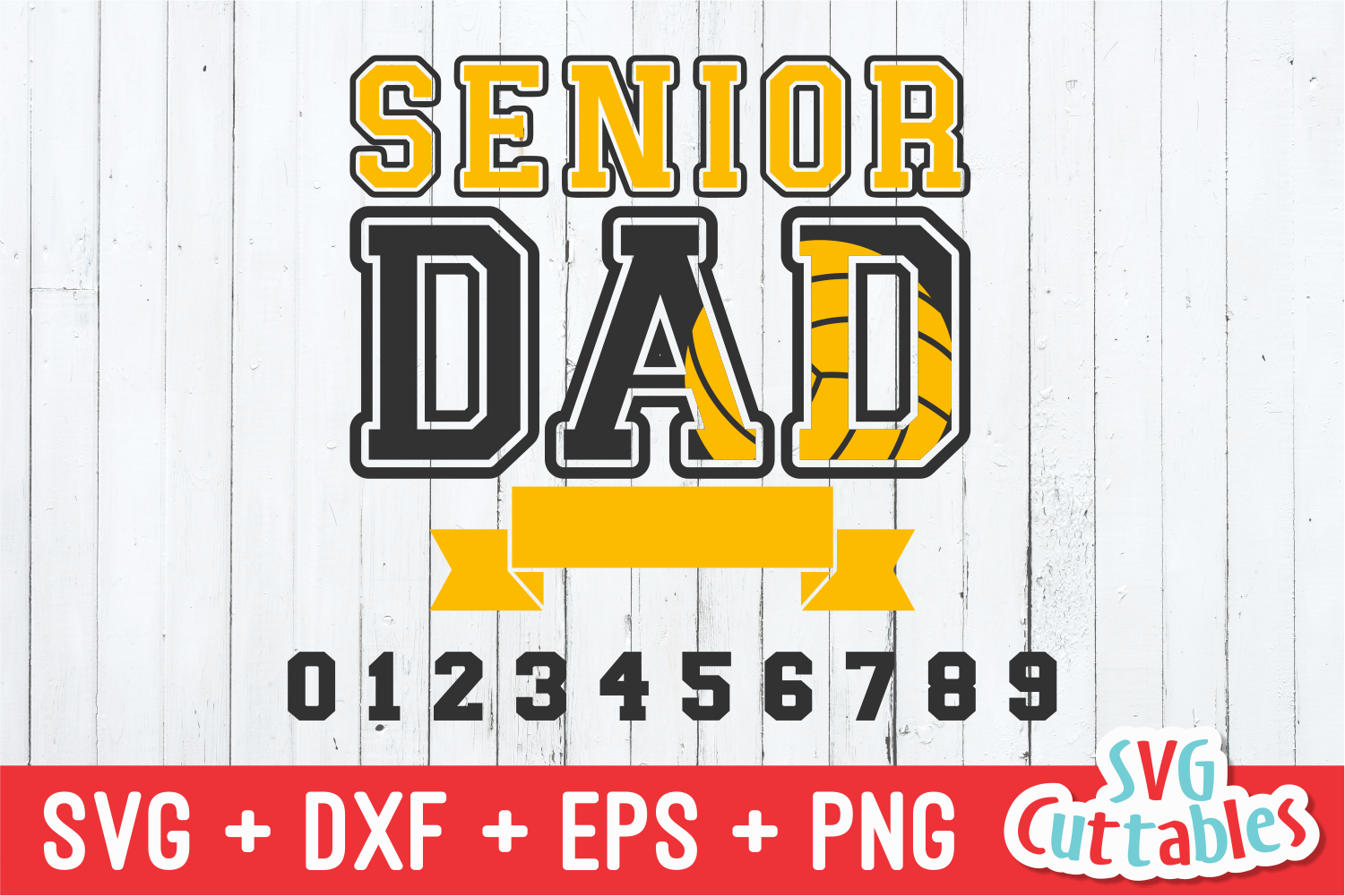 Senior Dad Volleyball | Volleyball svg Cut File example image 2