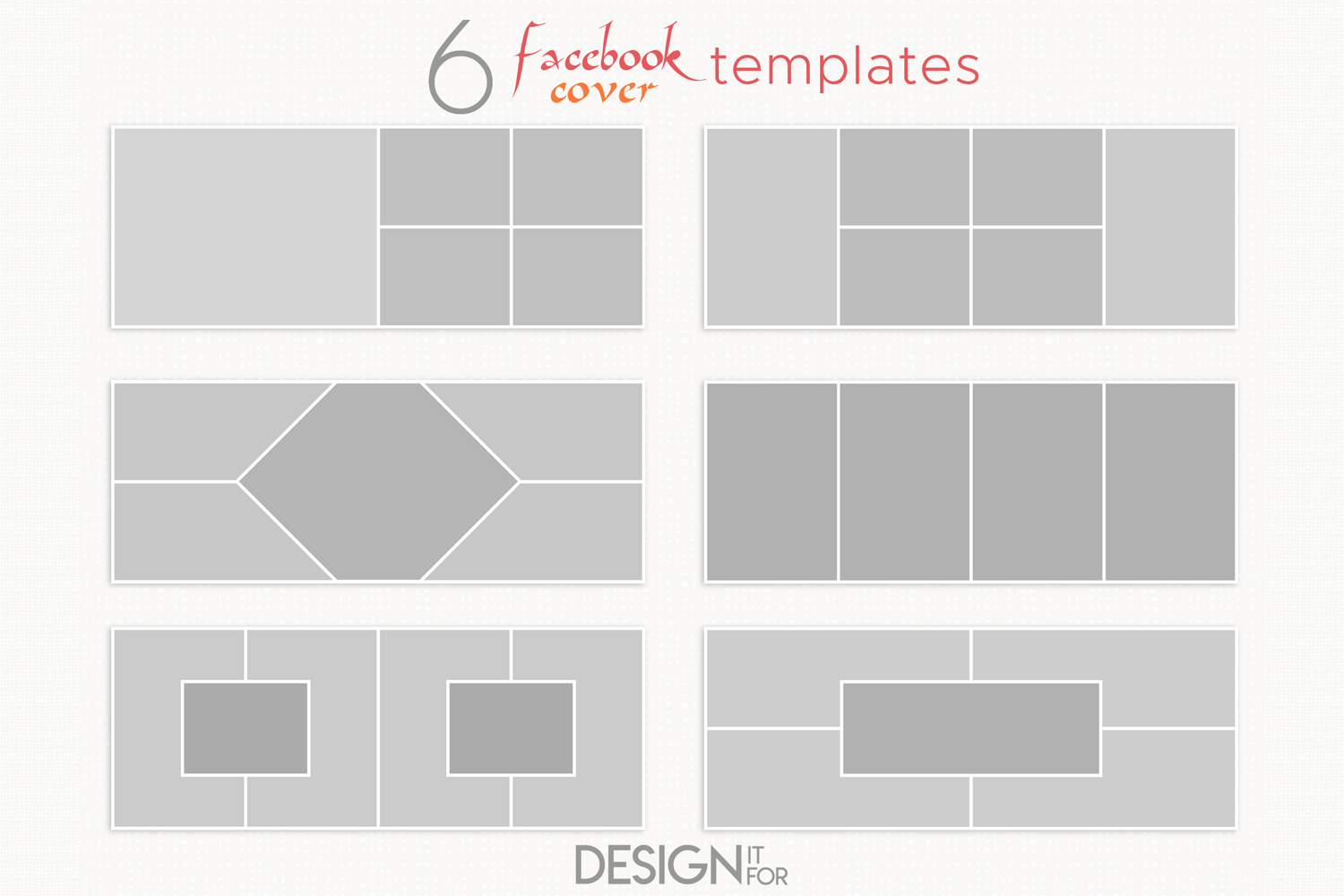 Facebook cover template, collage example image 1