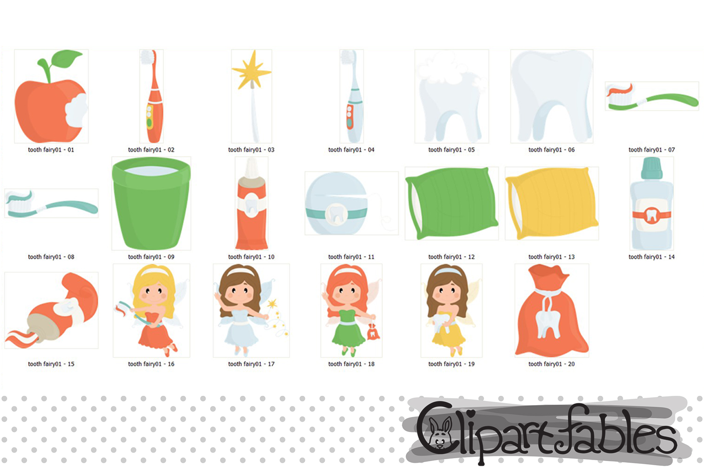 Little Tooth Fairy clipart, Fairy tale clip art, Digital art example image 2
