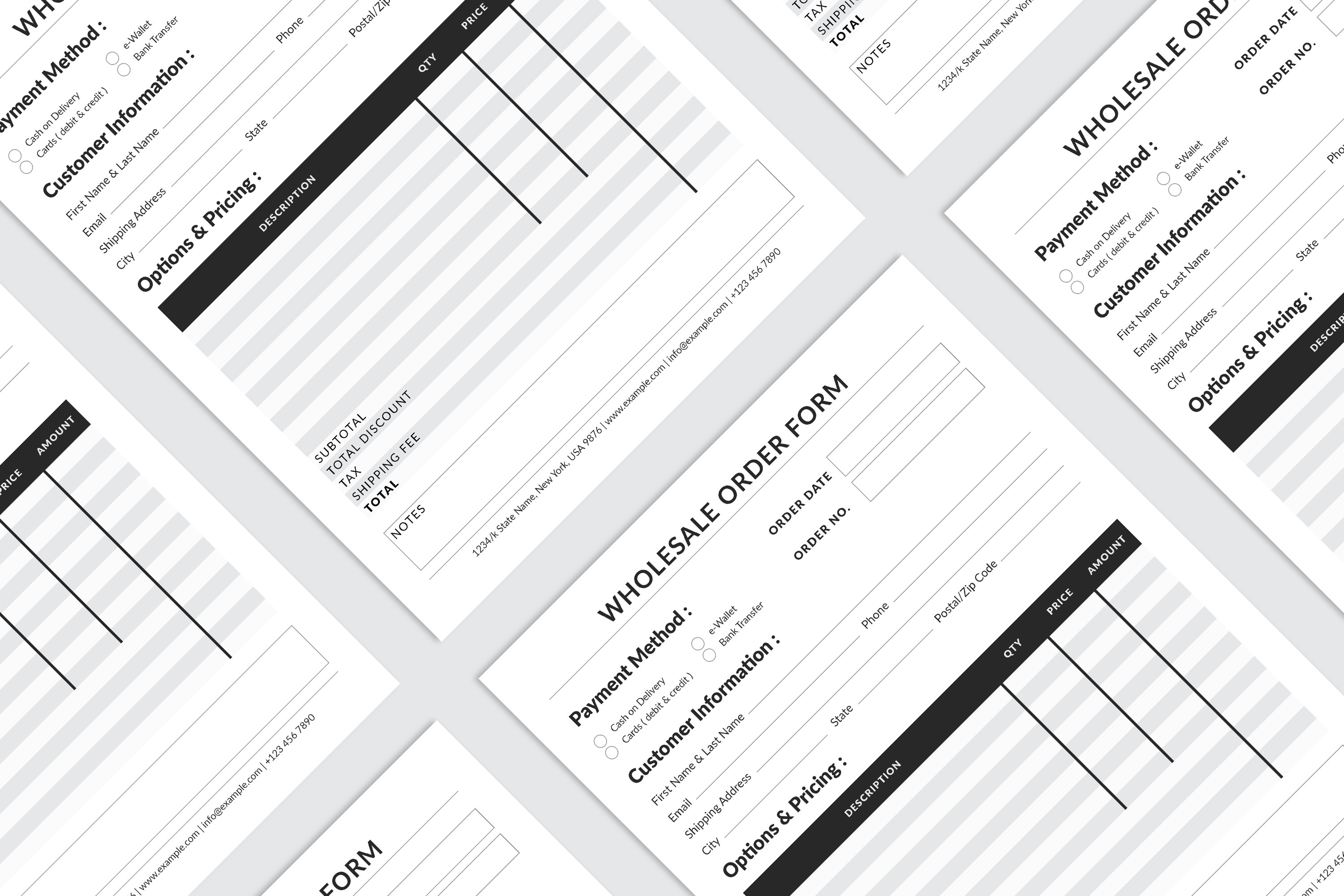 Editable Wholesale Order Form Template example image 1