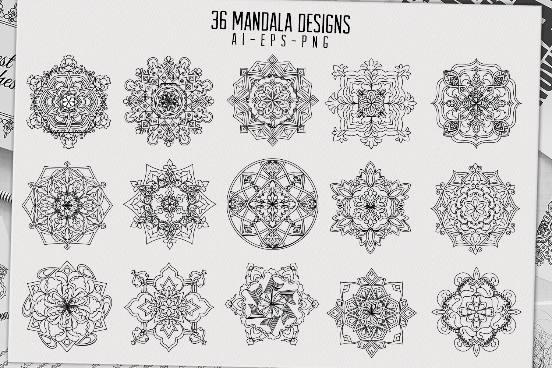 36 mandala designs-45 pattern brushes example image 6