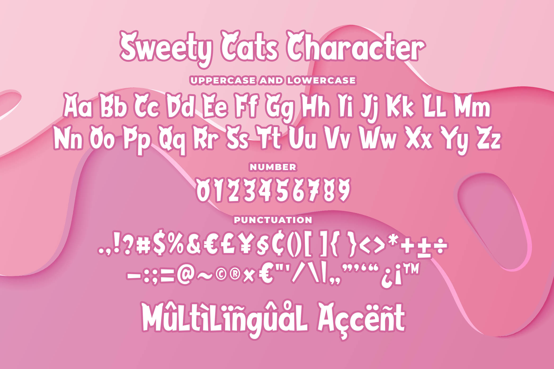 Sweety Cats - Funny Sans Serif example image 5