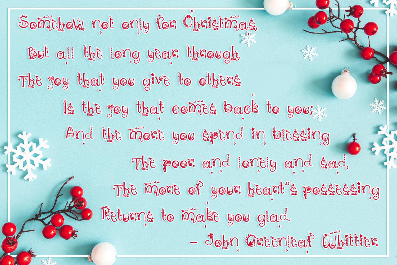 Christmas Vibes | A Whimsical Christmas Font example image 7