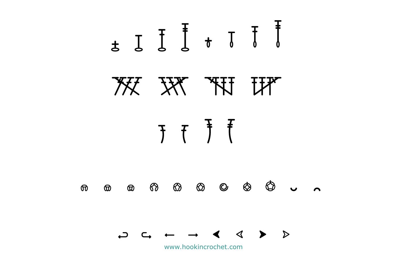 HookinCrochet Symbols 1 Font Software example image 7