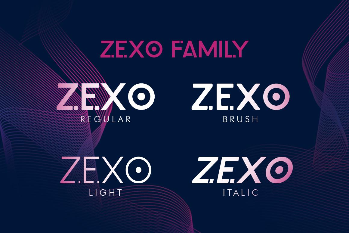Zexo Sans Family example image 6
