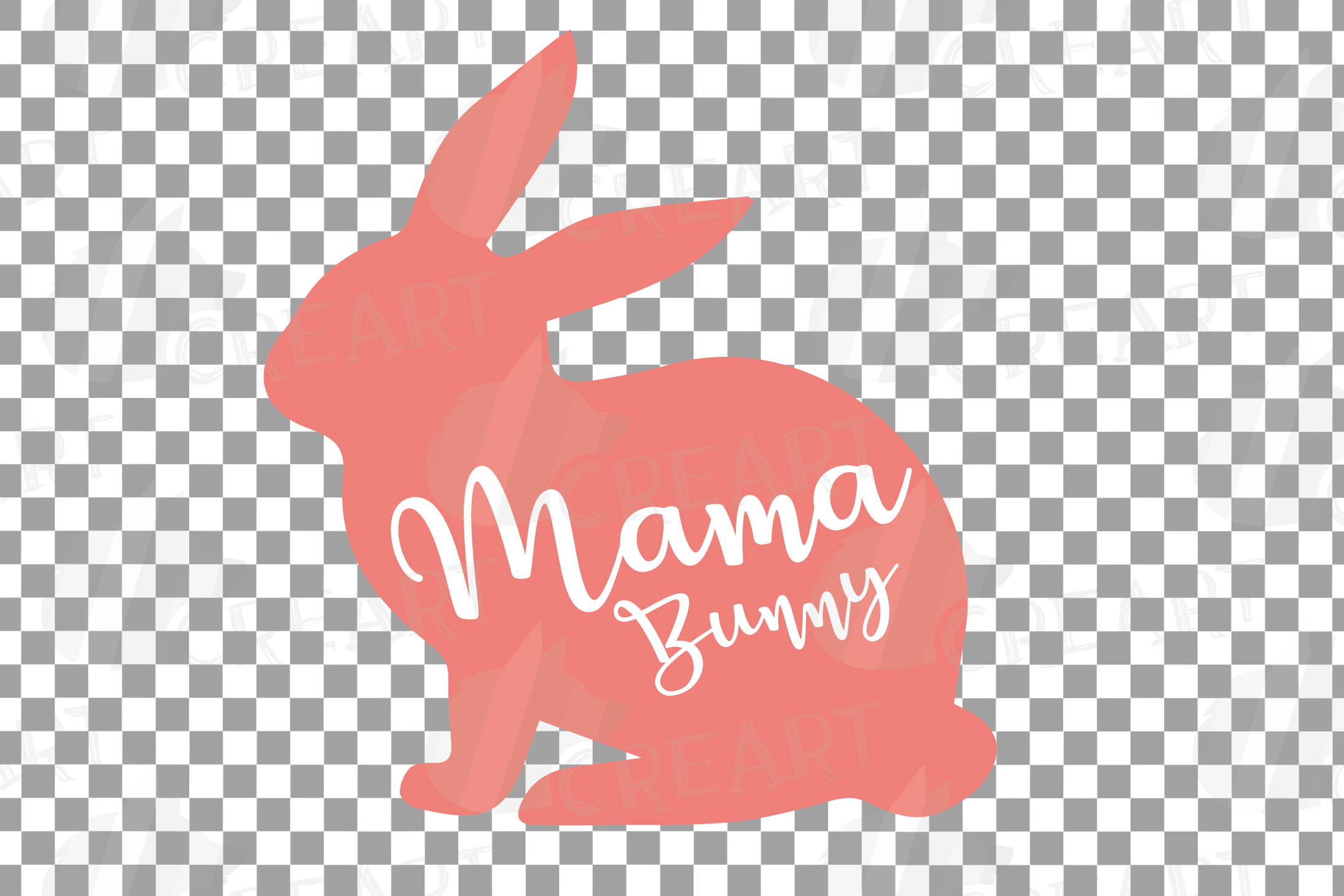 Rabbit family silhouettes, bunny silhouette svg cutting file example image 21
