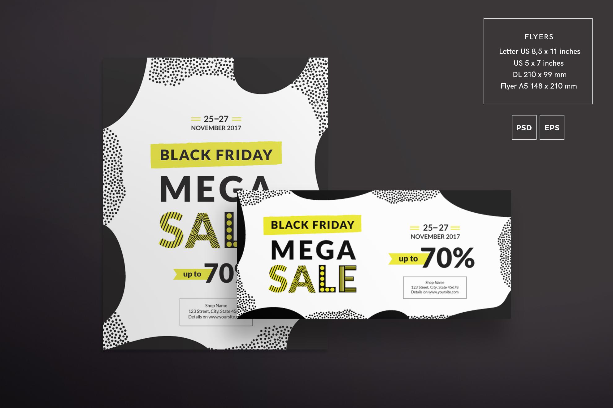 Black Friday Sale Design Templates Bundle example image 2