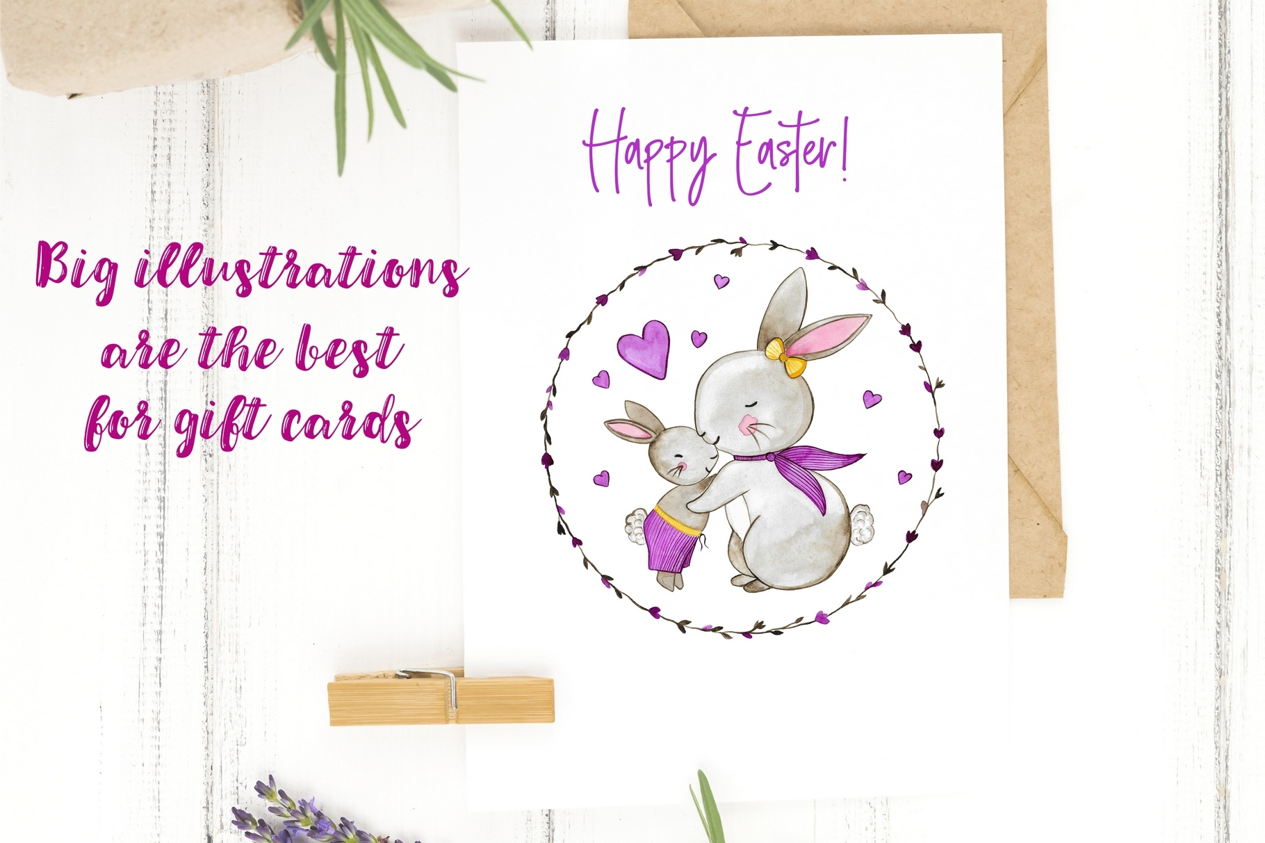 Happy Easter. Watercolor Set. example image 10