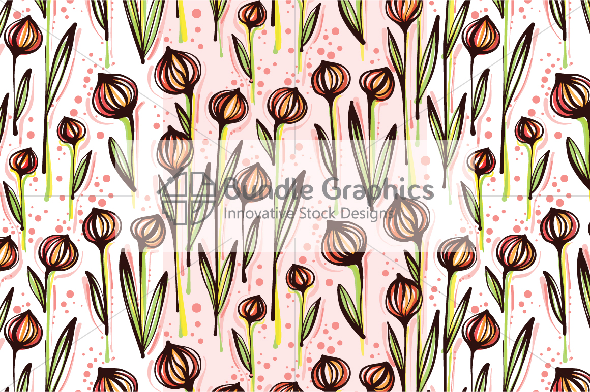 Vector Floral Pattern Pack example image 6