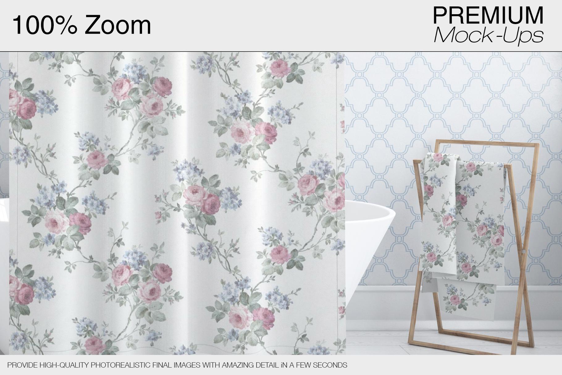 Bath Curtain Mockups example image 8