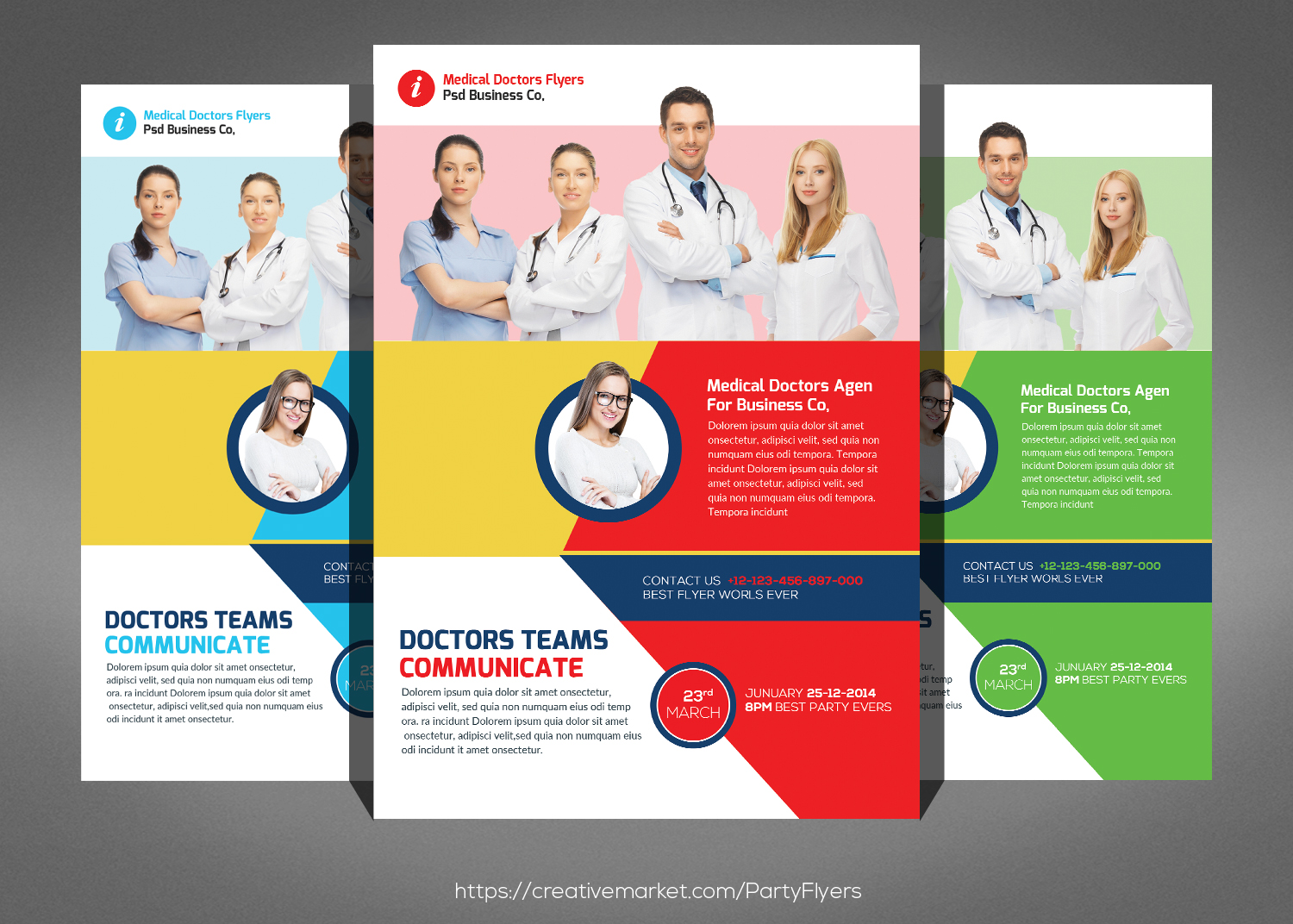 Medical Doctors Flyer psd example image 1