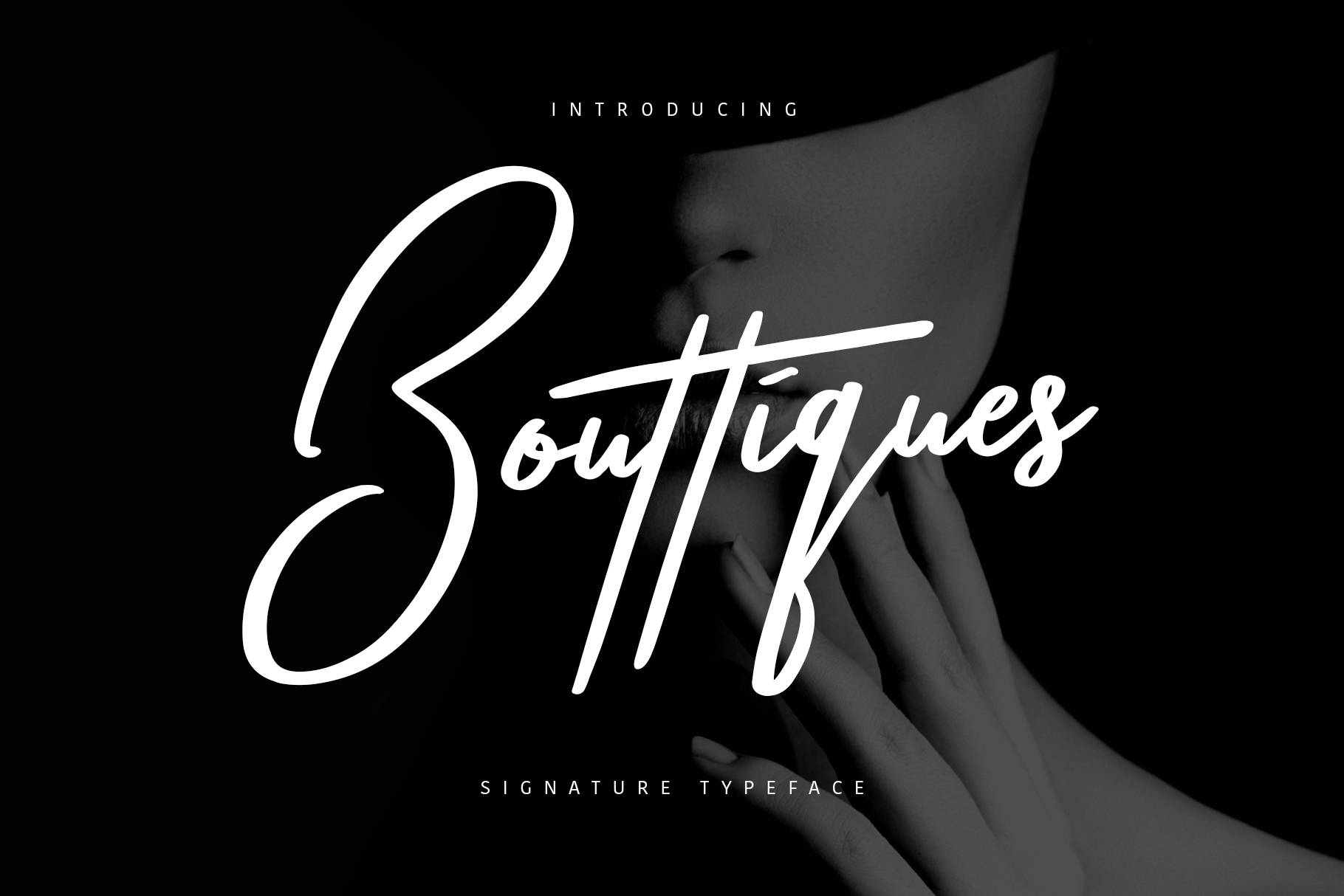 Bouttiques Signature Font example image 1
