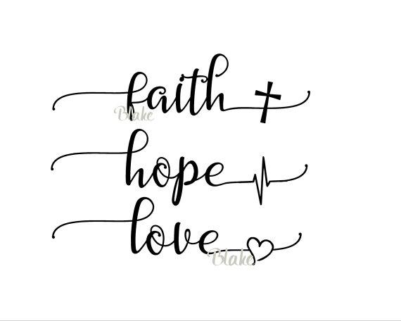 54c49c437568 Faith Hope Love svg CUT file for silhouette cameo cricut Christian faith t- shirt heartbeat