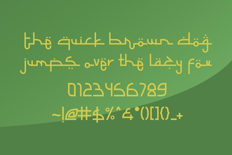 Selamet Lebaran // Arabic Fauxlang Font example image 4