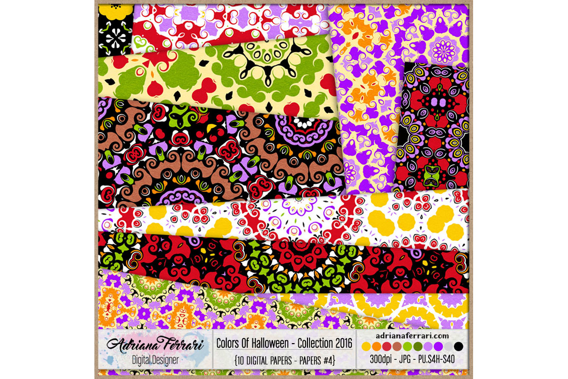 Colors Of Halloween - Collection 2016 - Paper 4 example image 2