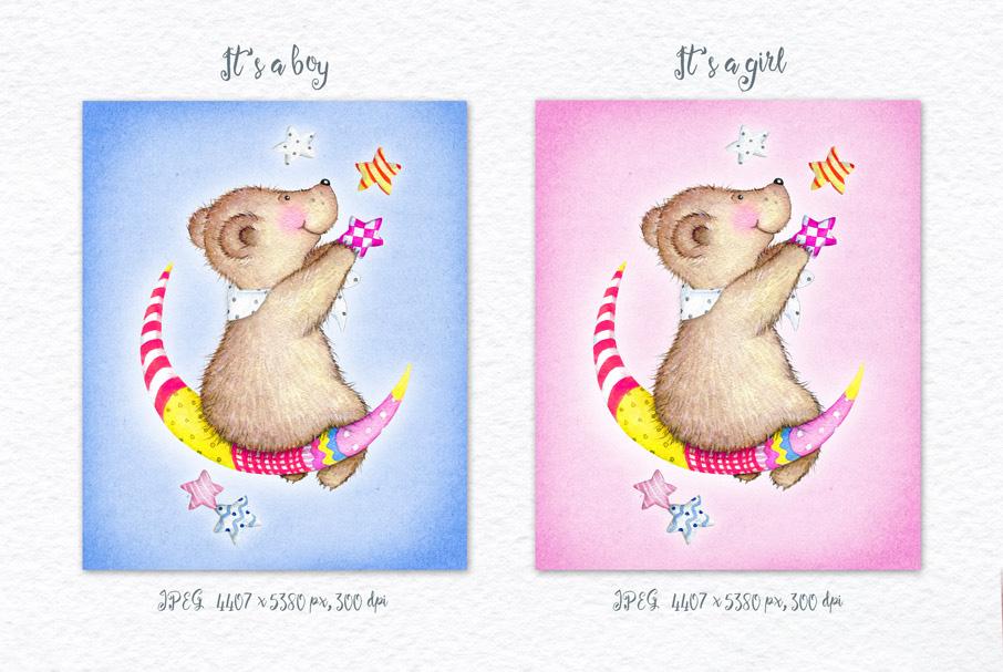 Watercolor Animals + BONUS example image 14