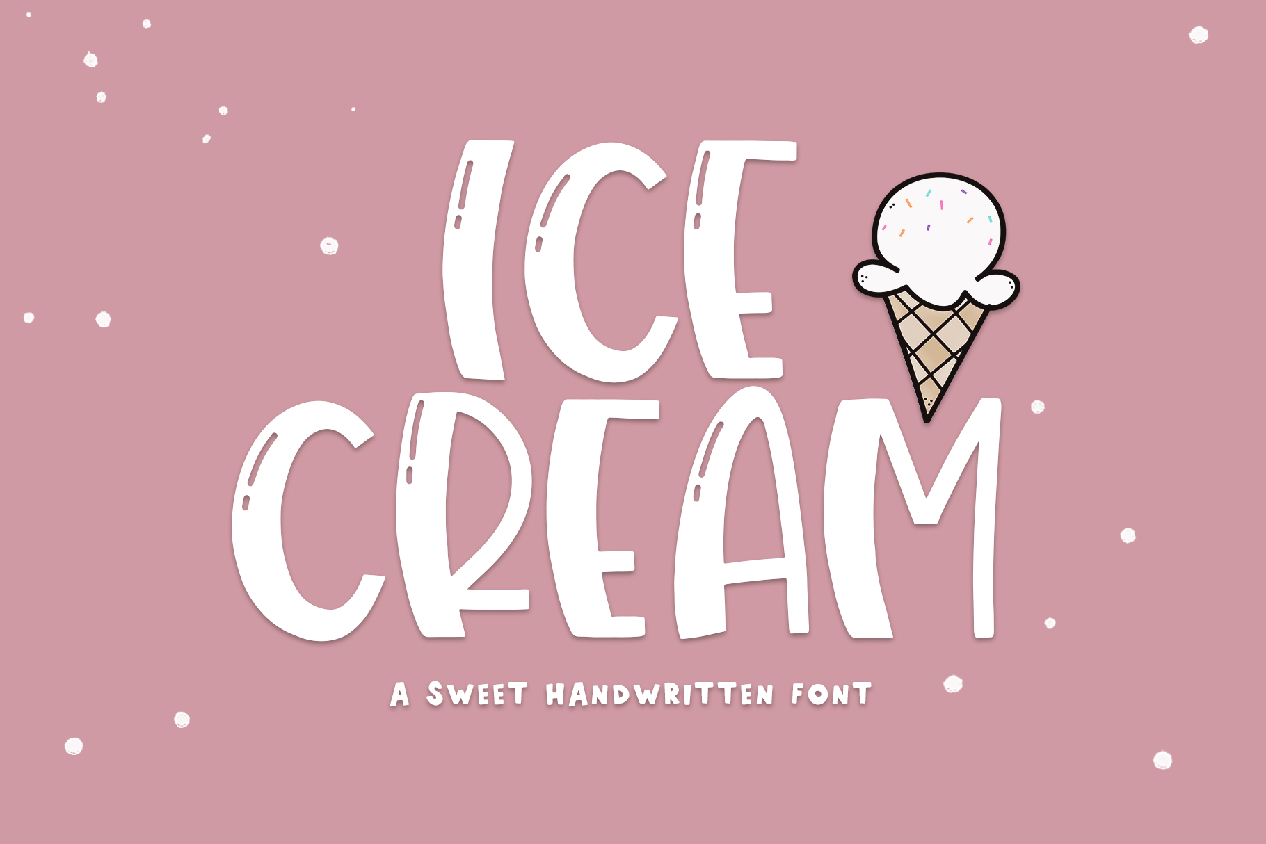 Ice Cream- A Handwritten Font example image 1