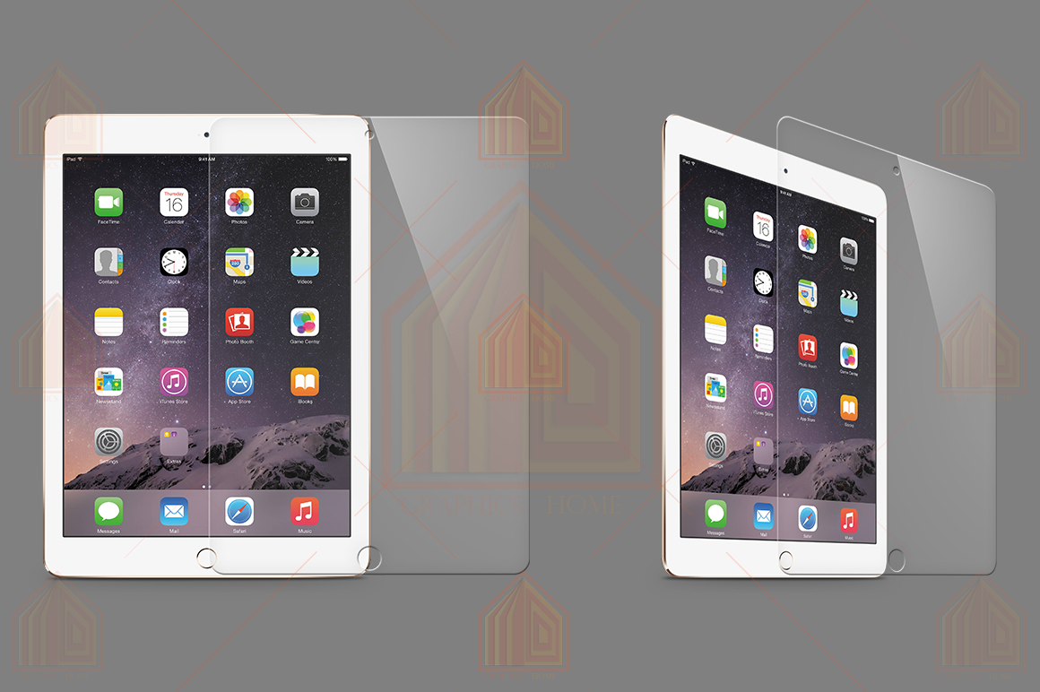 iPad Air 2 Tempered Glass Template example image 1