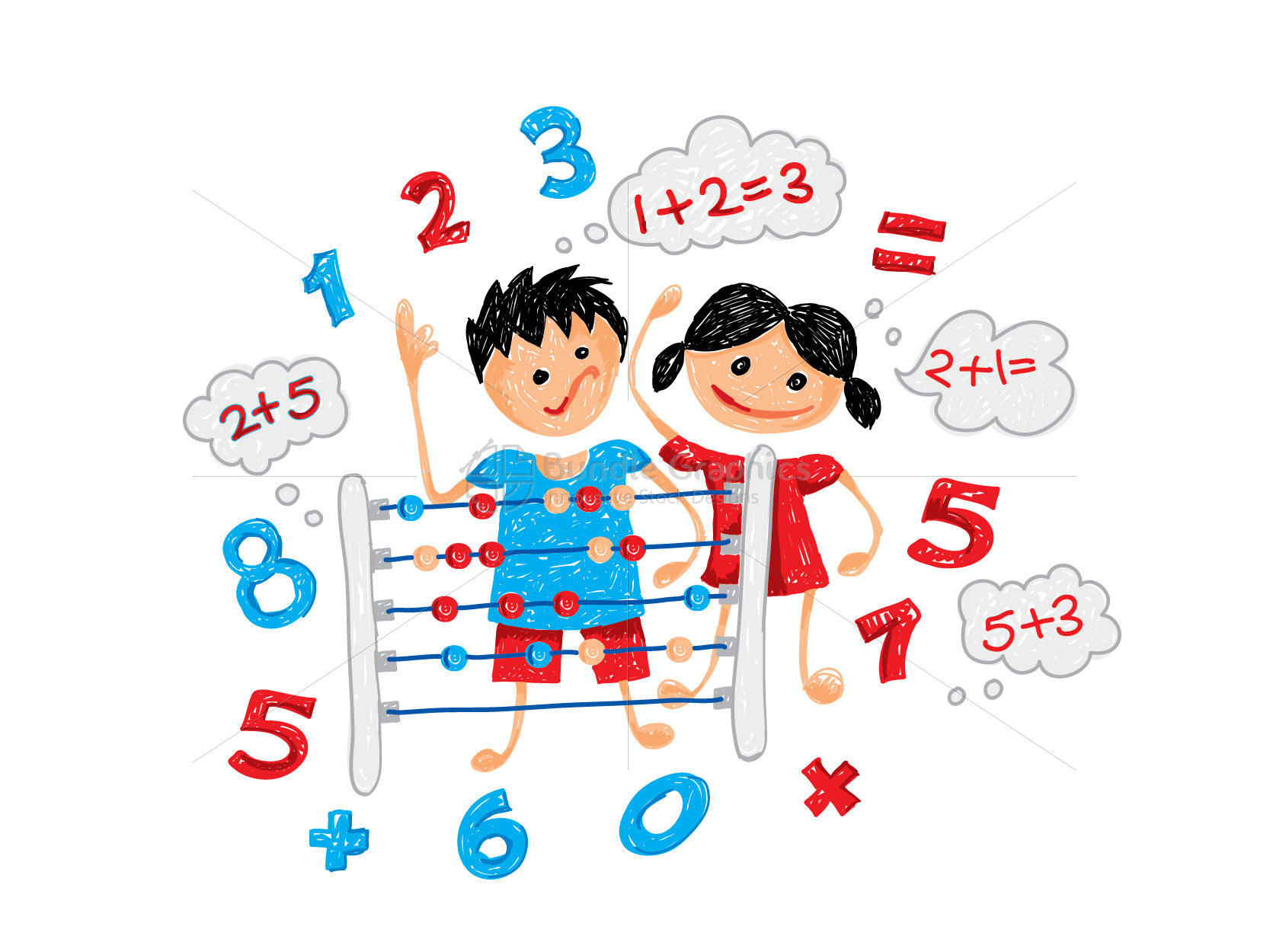 Primary Abacus Class Graphical Illustration example image 3