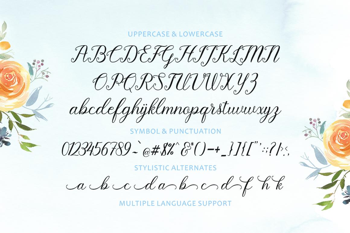 Pruistine Script example image 8