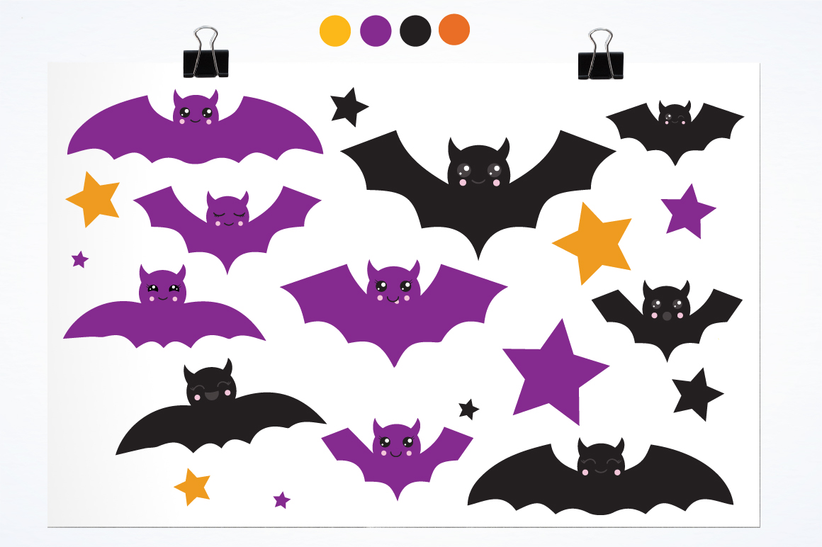 Halloween Bats graphics and illustrations example image 2