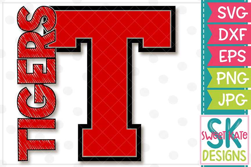 T Tigers SVG DXF EPS PNG JPG example image 4