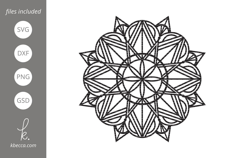 Deco Mandala SVG Cut Files example image 1