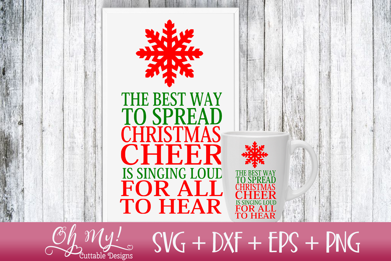 Spread Christmas Cheer - SVG DXF EPS PNG Cutting File example image 3