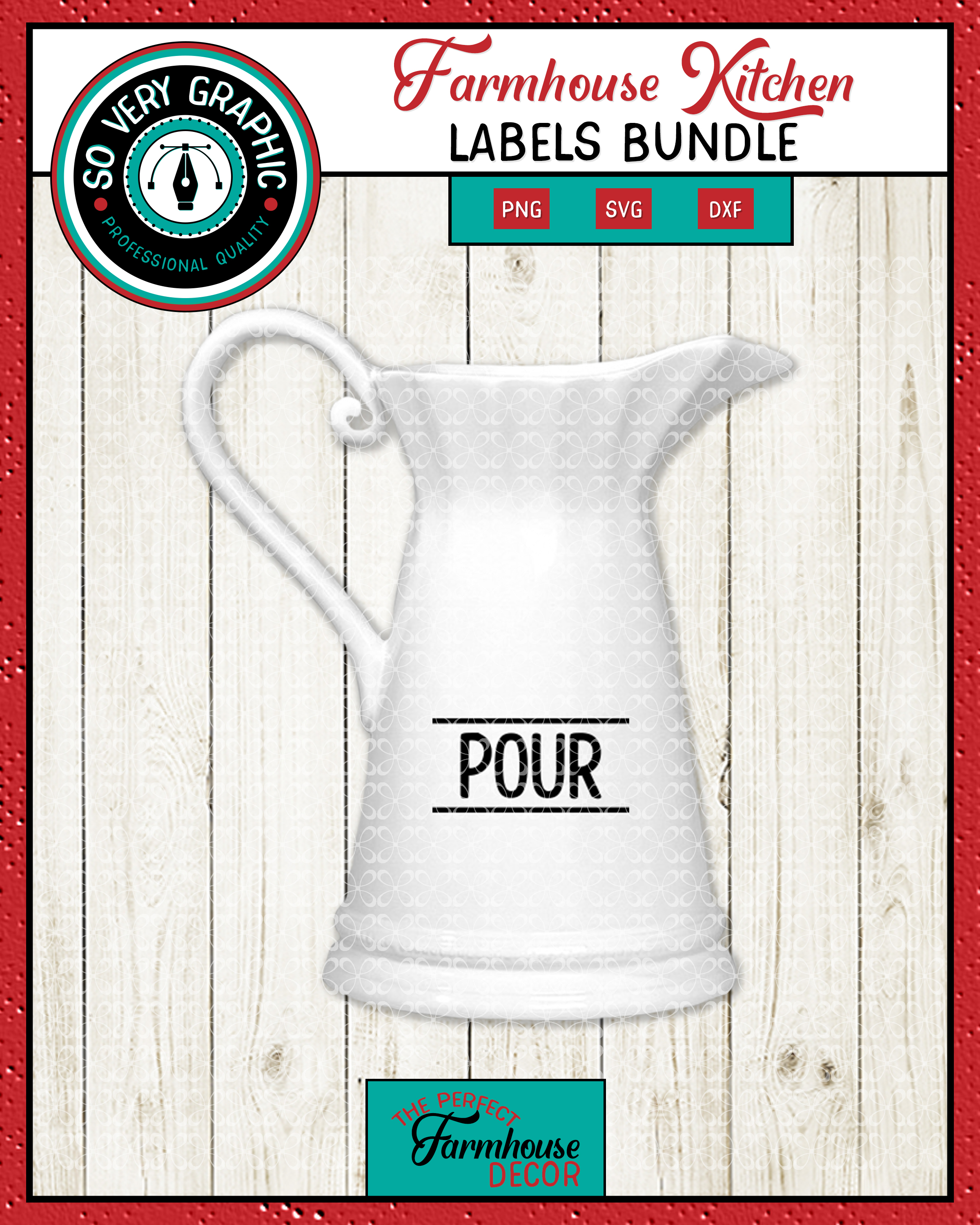 Farmhouse Kitchen Labels Bundle | Canister Pantry Decals SVG example image 3