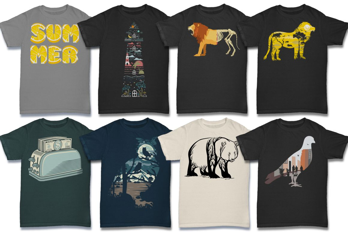 103 Tshirt Designs Mega Bundle example image 9