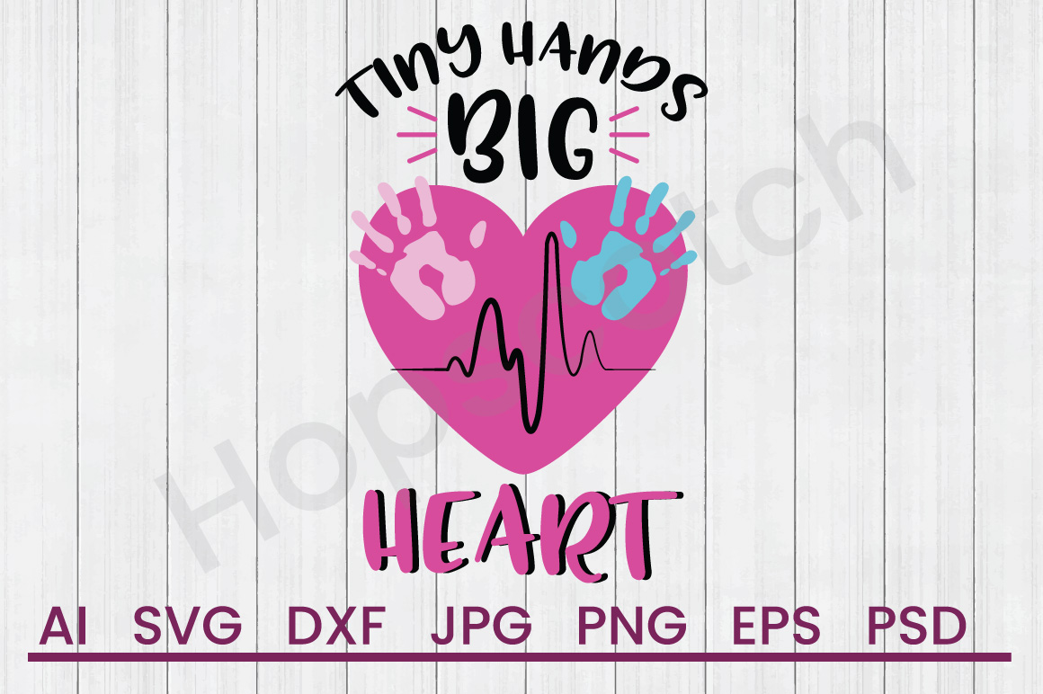 Handprint Heart SVG, DXF File, Cuttatable File example image 1
